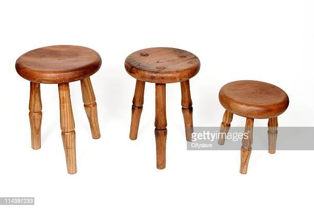 Three Legged Melken Barhockern