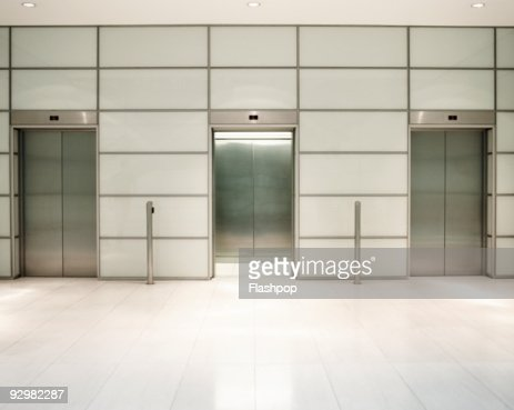 Three lifts in office building