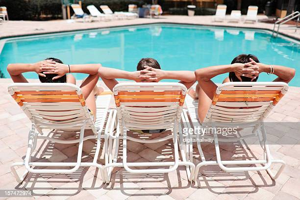 Three Loungers with people