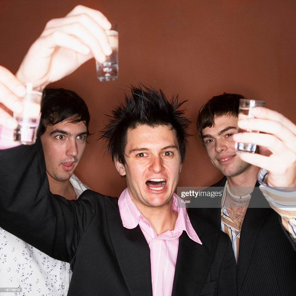 Three Man Drinking Liquor