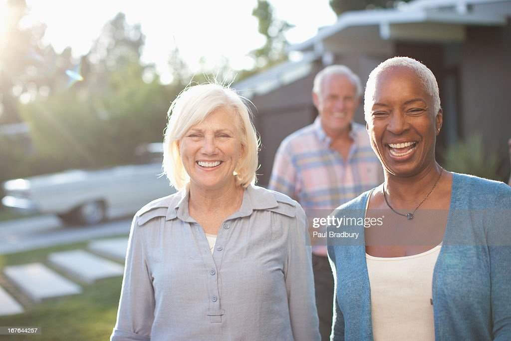 Three mature adults : Stock Photo