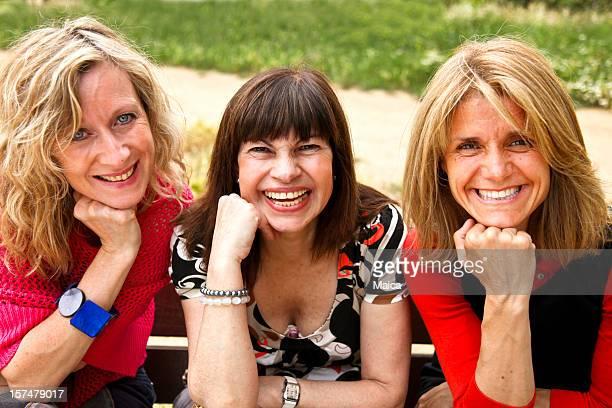 Drei ältere Freunde