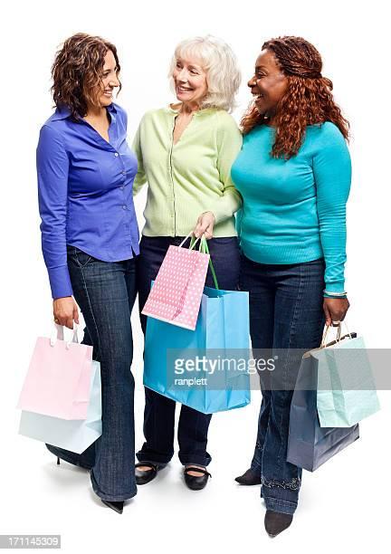 Three Mature Women Shopping