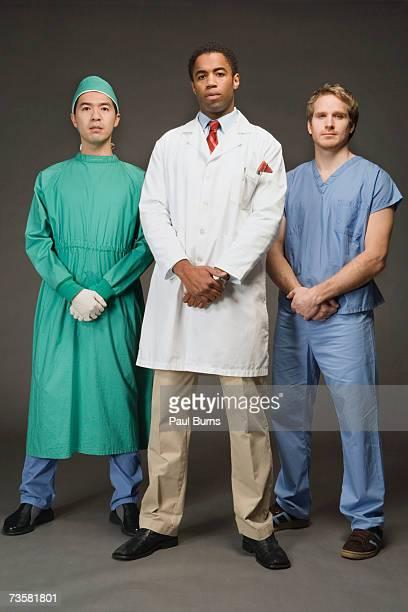 Three medical professionals, portrait