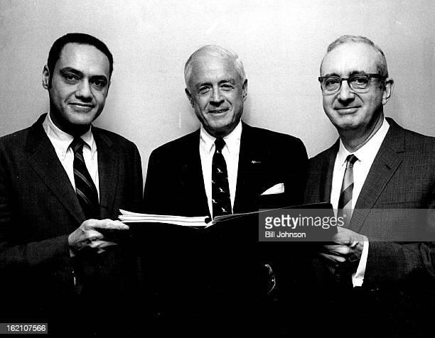 FEB 7 1969 Three Members Of President Nixon's Commission On Income Maintenance Programs Left to right are Clifford L Alexander Jr Thomas J Watson Jr...