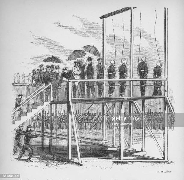 Three men and a woman hanged for the assassination of Lincoln c1865 Mary Surratt Lewis Powell David Herold and George Atzerodt hanged for the...