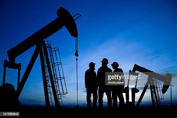 Three Men Meet in an Oilfield