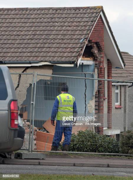 Three men were killed when the car they were travelling in crashed into the side of a house which then partially collapsed in Dalton Hill Hamilton in...