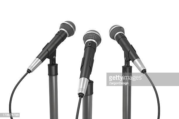 Drei Mikrofone Rückseite