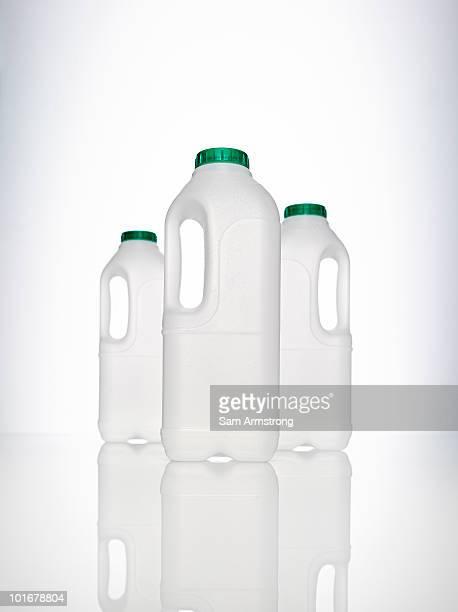 Three milk bottles