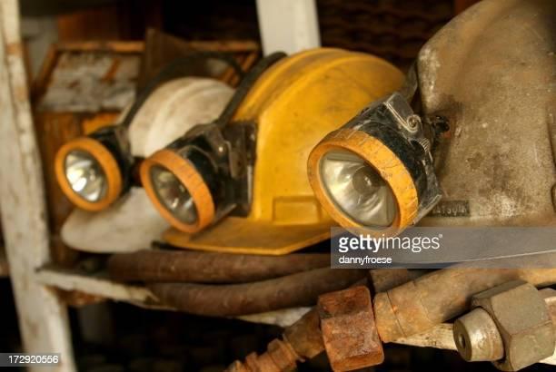 Three Mine Helmets