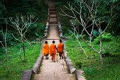 Three Monks in Luang Prabang