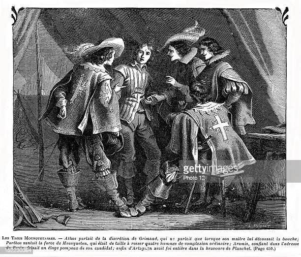 Three Musketeers 19th century Alexandre Dumas Private collection