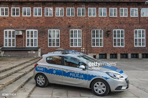Three new cars and new drugs analyser start operating in Pomeranian Police in Gdansk Poland on 13 December 2016 An Opel Corsa Police car is seen Cars...