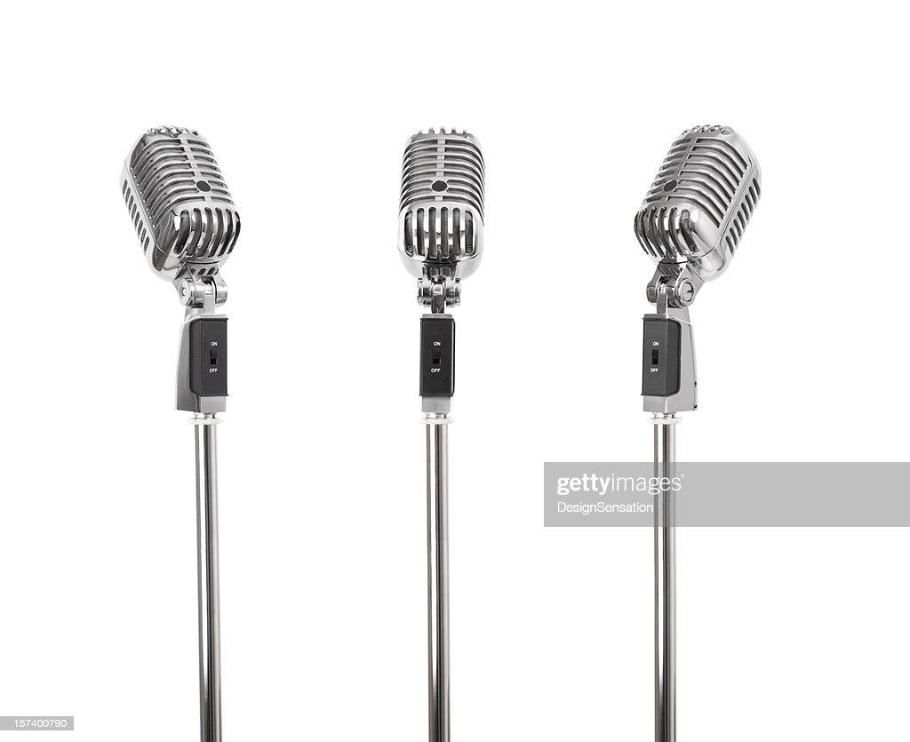 Three of a kind - Retro Microphones (+clipping paths, XXL)