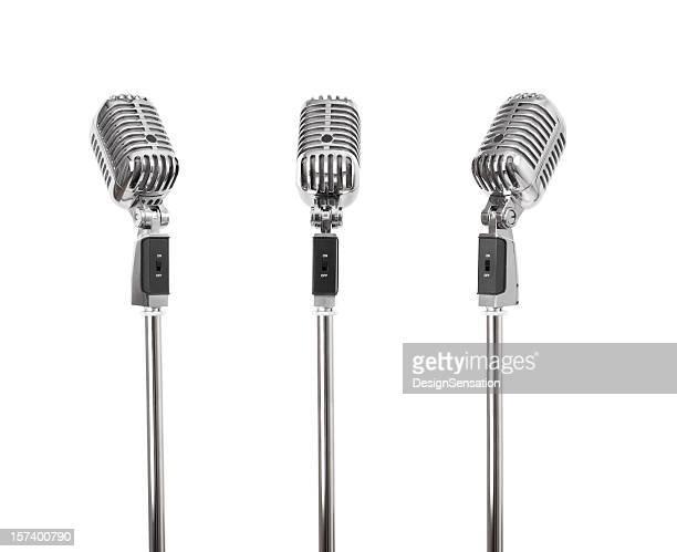 Tre di un genere-retrò microfono (tracciati di ritaglio, XXL