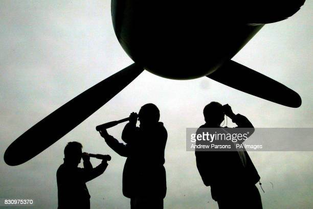 Three of the 14 plane spotters Antoni Adamiak of London Paul Coppin of Mildenhall Suffolk Mike Bursell of SwanlandYorkshire convicted of spying in...