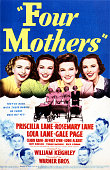 Three of the Lane Sisters and actress Gale Page on a poster for the Warner Bros film 'Four Mothers' directed by William Keighley 1941 The film is a...