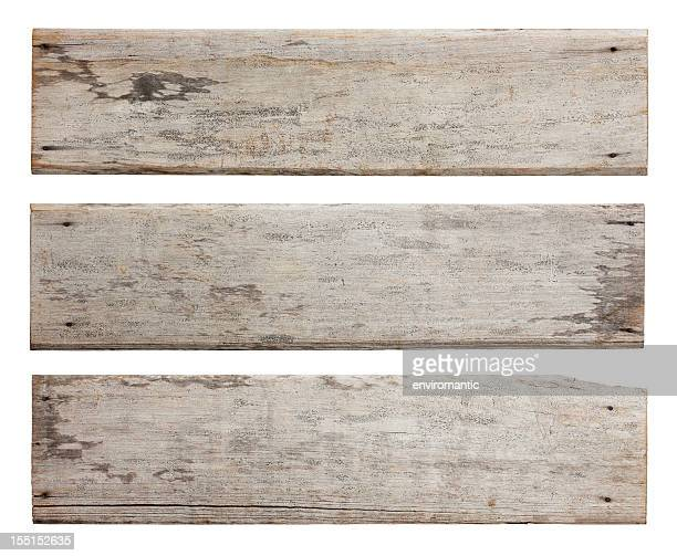 Three old weathered wood boards.