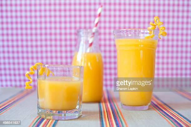 Three orange juices