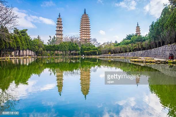 Three Pagodas of Chongshen Temple,Yunnan,China