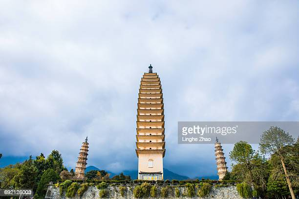 Three Pagodas Of Chongsheng Temple In China