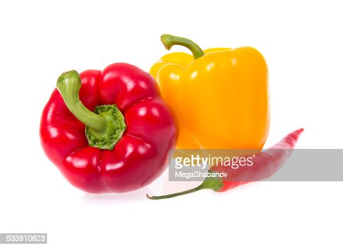 Three peppers : Stock Photo