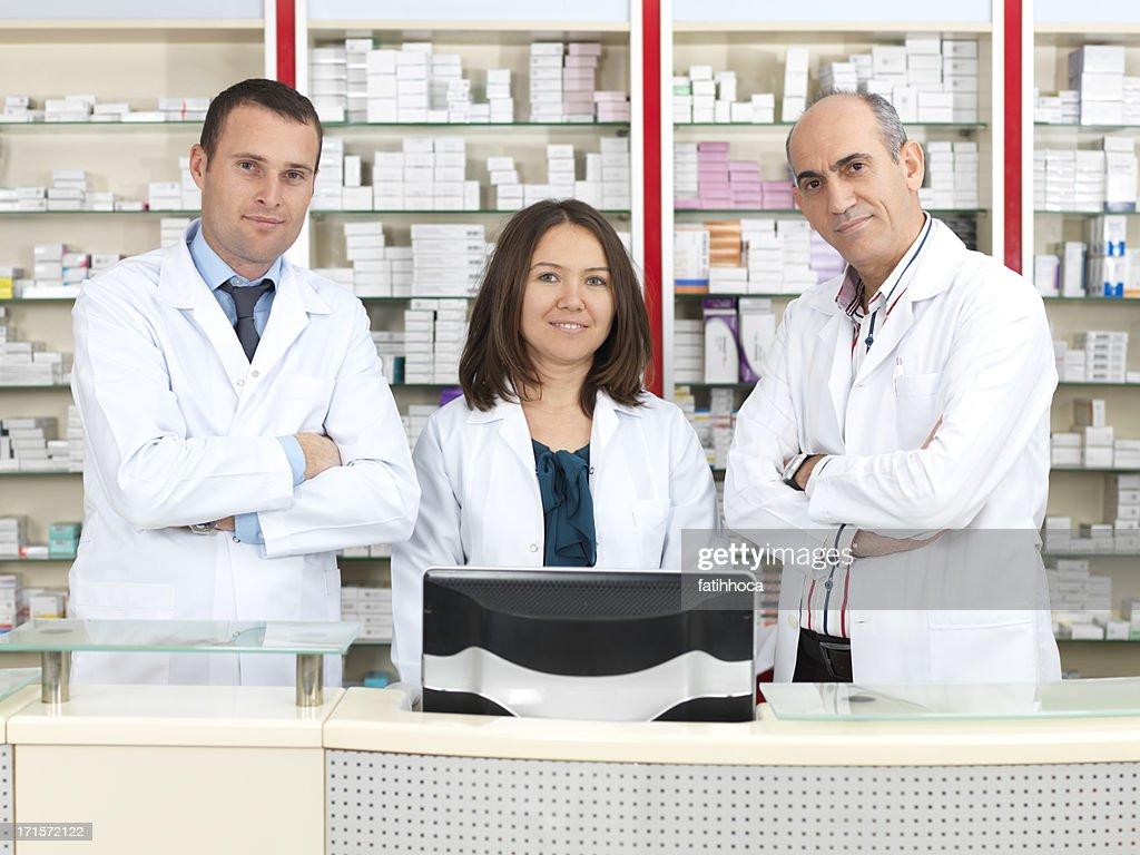 Three Pharmacist : Stock Photo