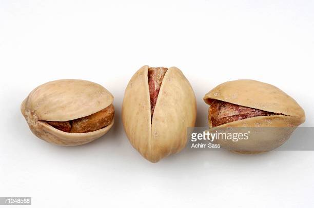 Pistachios, elevated view, close-up