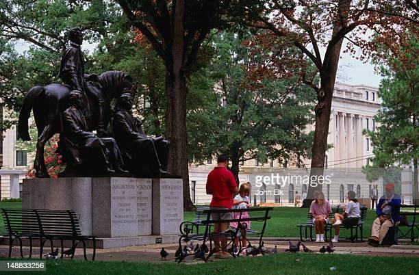 Three President's Statue, Union (Capitol) Square.