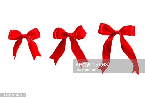 Three red bows