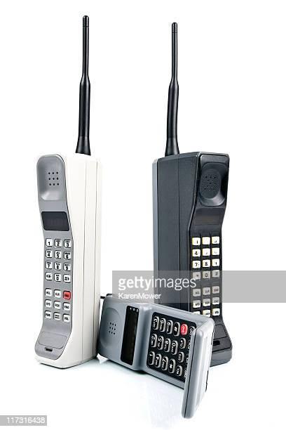 Three Retro Cell Phones