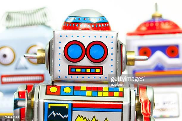 Trois des Robots rétro Tin