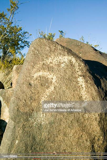 Three Rivers Petroglyph National Site a Bureau of Land Management Site features an image of an Eagle head one of more than 21000 Native American...
