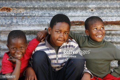 Three rural African children