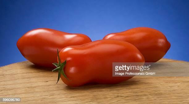 Three San Marzano tomatoes