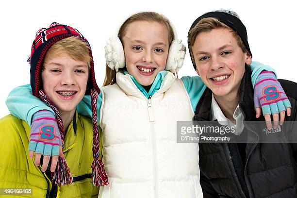 Three Siblings ready for cold weather