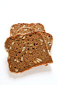 Three slices of wholemeal bread