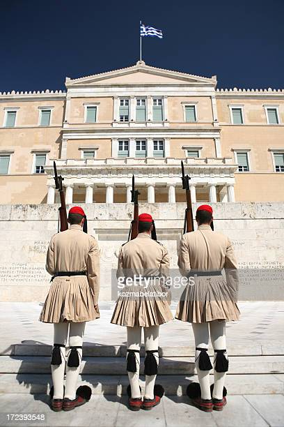 three soldiers in greece