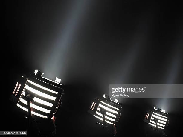 Three spotlights in a row