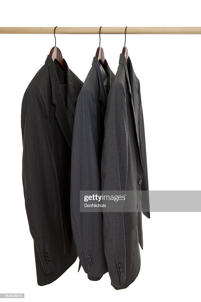 Three Suits on a Rack