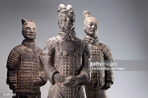 Three terracotta soldiers