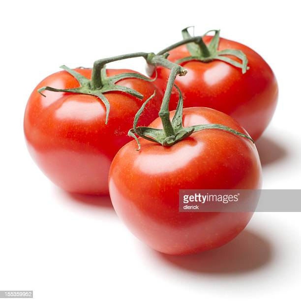 Three Tomatoes on Vine