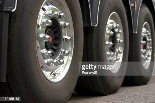 Three truck tires