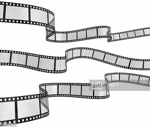 Trois filmstrips ondulés