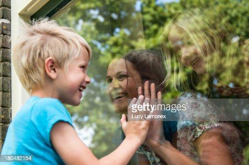 Three way family connection : Stockfoto