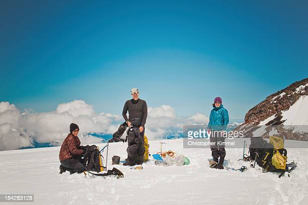 Three Winter Backpackers