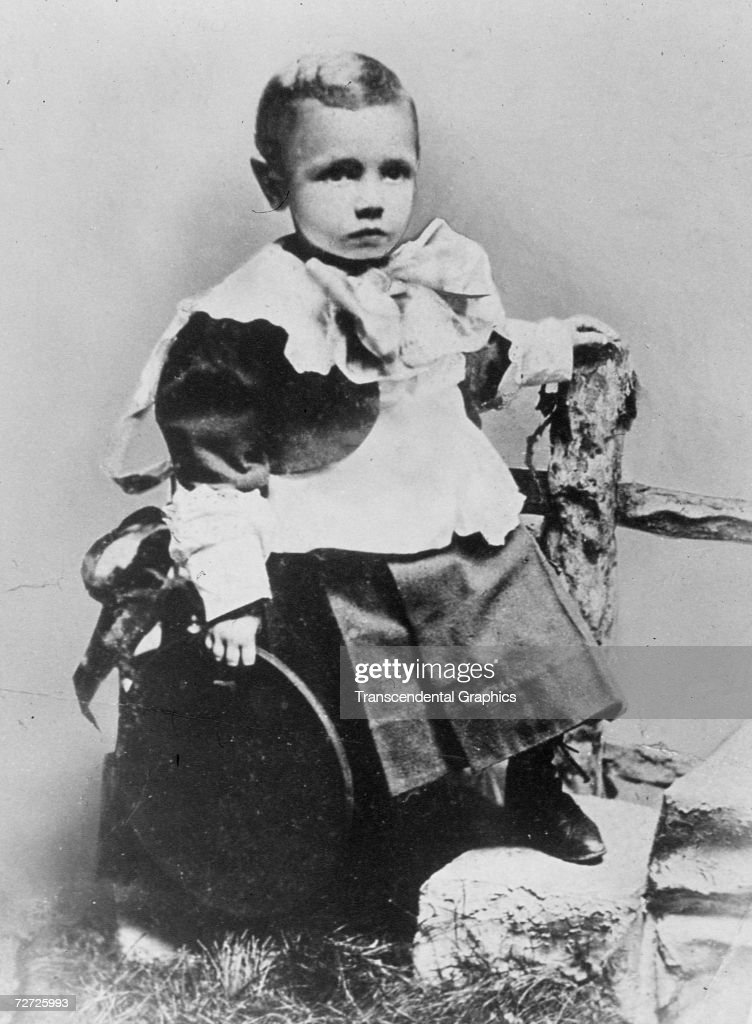 Three year old George Herman Ruth poses for a portrait in Baltimore in 1898 long before he was known as 'The Babe.'