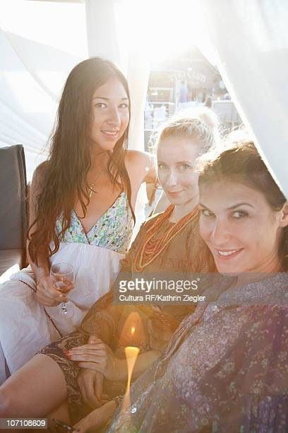 Three young ladies spending quality time
