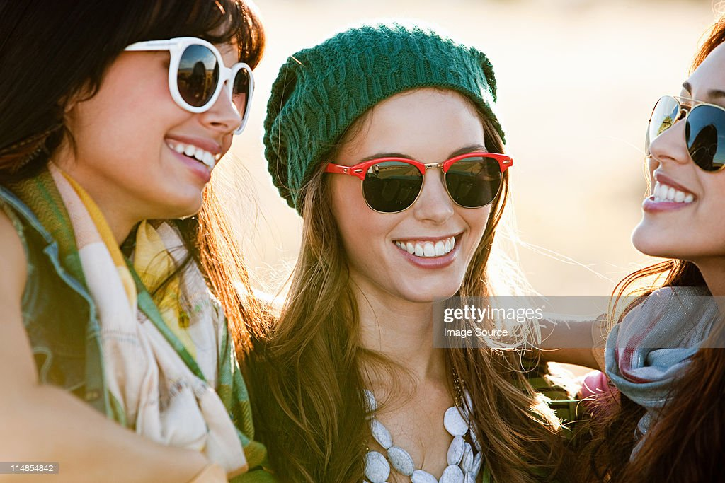 Three young women, portrait : Stock Photo